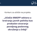 "Application ""Participation of the MSME sector in the creation of public policies as a precondition for creating a favorable business environment in Serbia"""