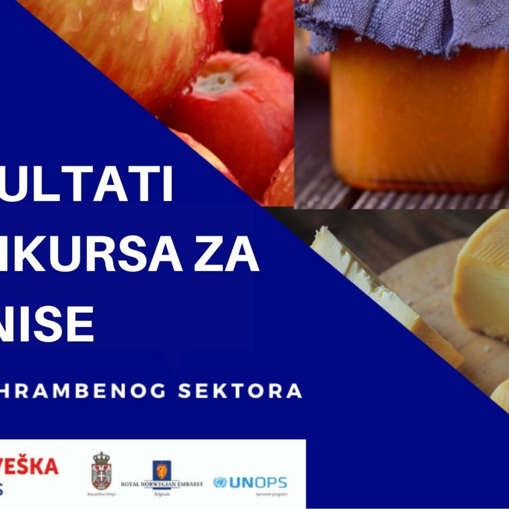 Completed selection of companies within the application for businesses from the food sector